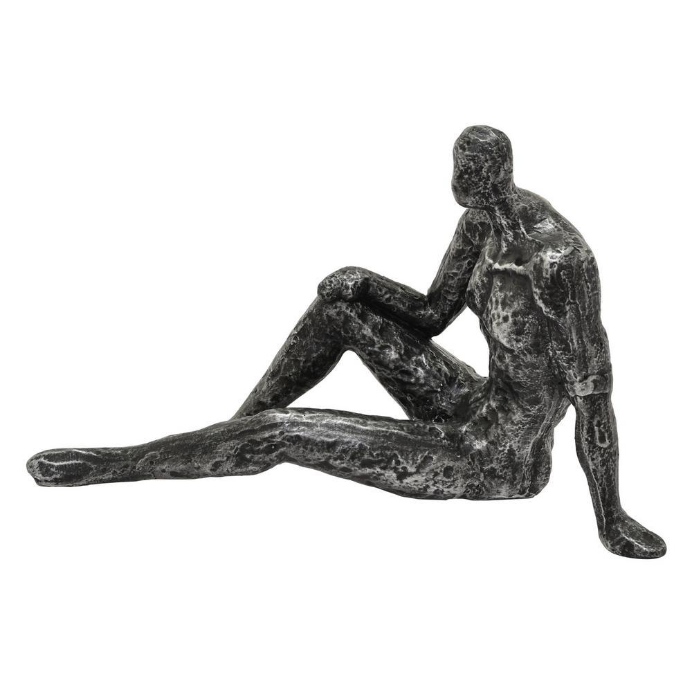 6.25 in. Sitting Man Figurine Black