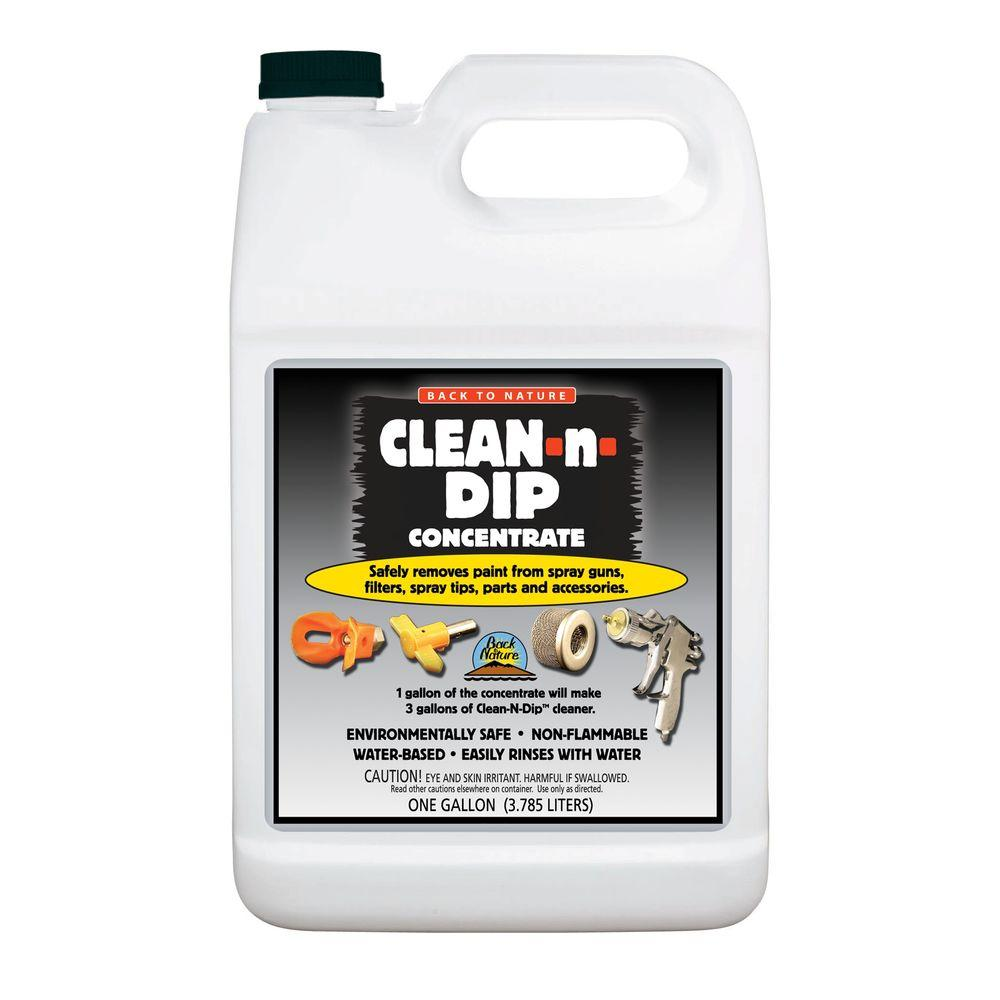 Clean-N-Dip 1 gal  Safe Removal Concentrate for Spray Guns, Tips and Other  Accessories