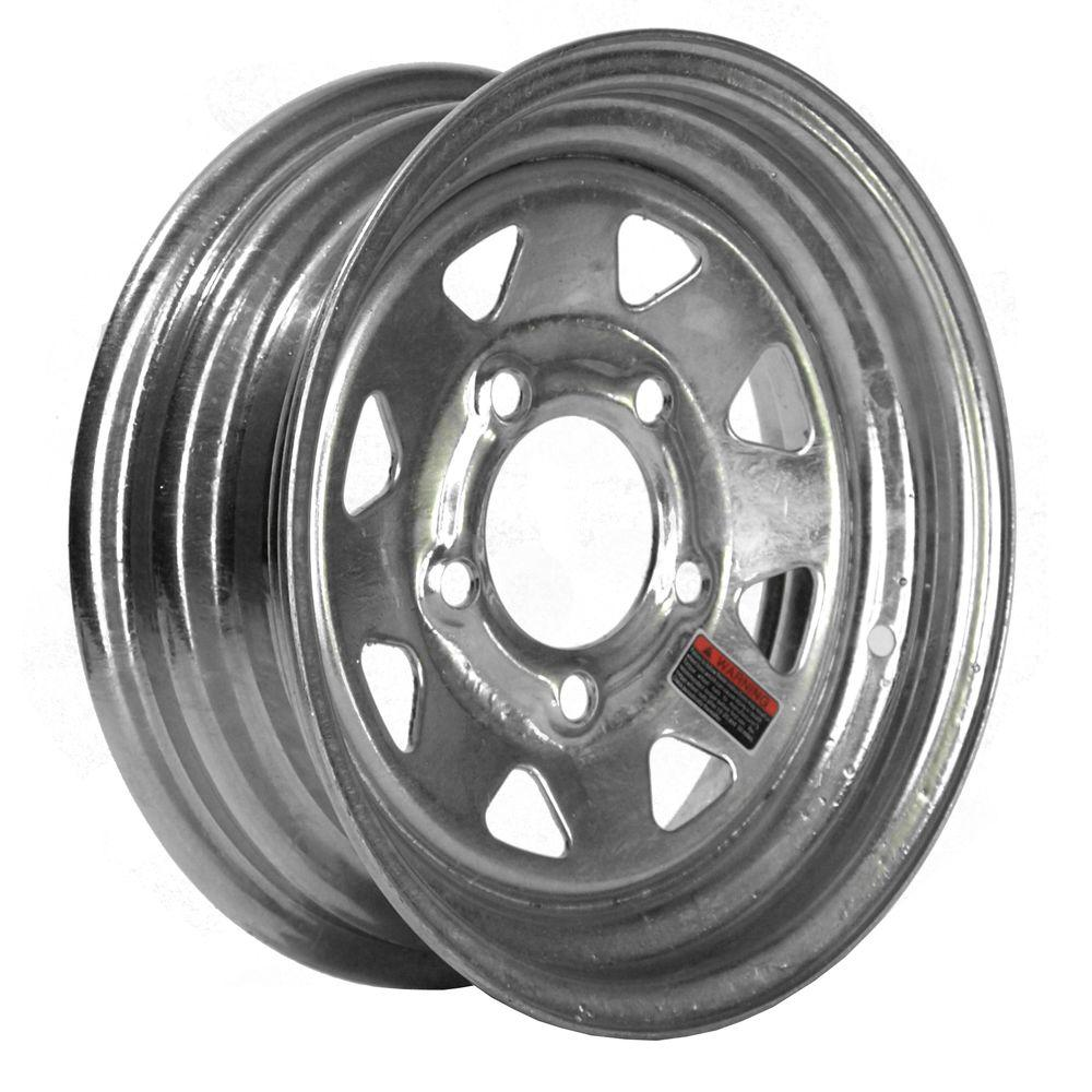 12x4 5-Hole 12 in. Galvanized Steel Trailer Wheel/Rim