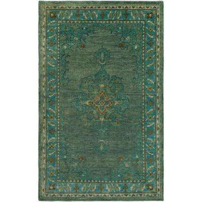 Montoku Teal 8 ft. x 11 ft. Indoor Area Rug