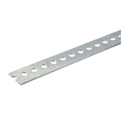 1-3/8 in. x 48 in. Zinc-Plated Punched Steel Flat Bar with 1/16 in. Thick