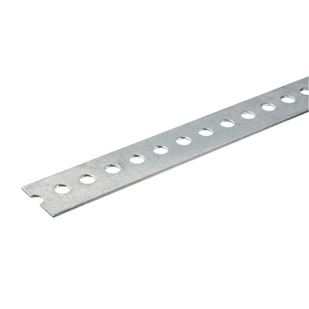 1-3/8 in. x 72 in. Zinc Steel Punched Flat Bar with