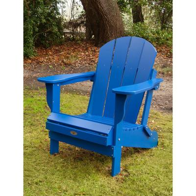 Recycled Royal Blue Folding Plastic Adirondack Chair