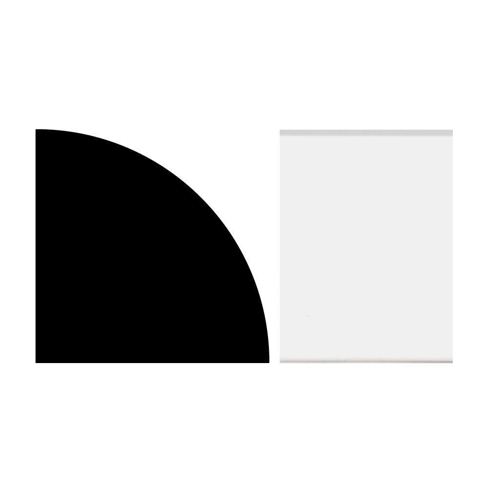 3/4 in. x 3/4 in. x 12 ft. Quarter Round PVC White