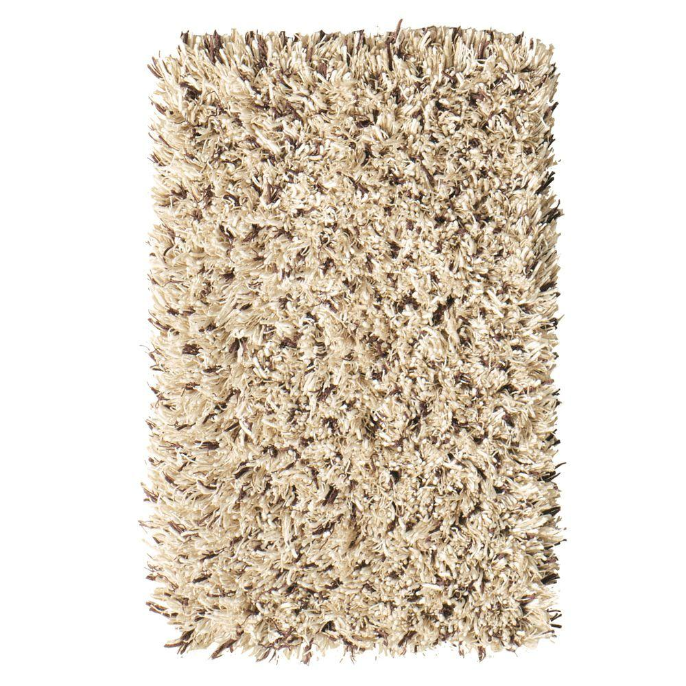 Ultimate Shag Cookies/Cream 6 ft. x 9 ft. Area Rug