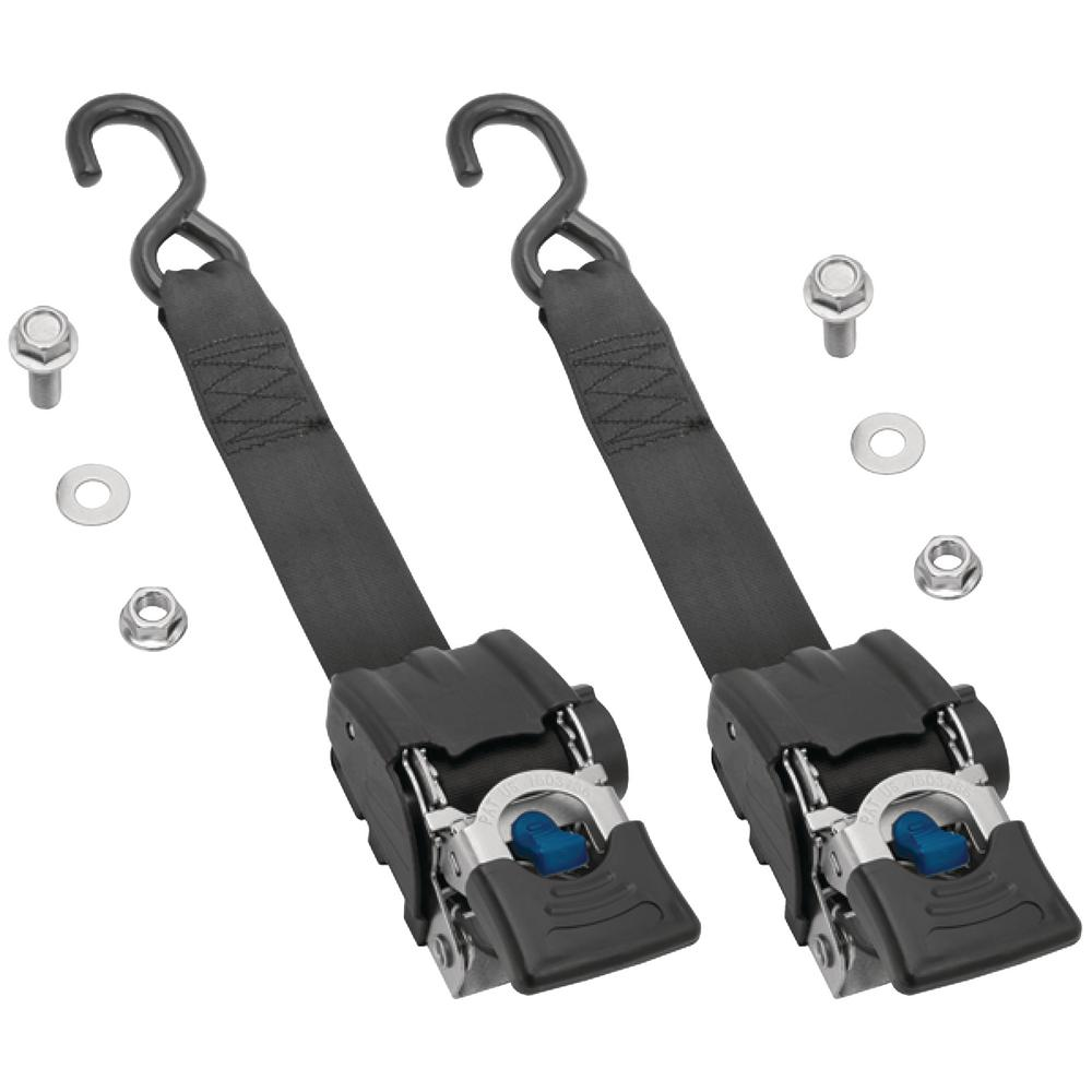 Highland Heavy-Duty 2 in. x 43 in. 833 lb. Work Load Retractable Transom Ratchet Tie Down (2-Pack)