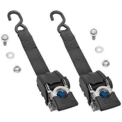Heavy-Duty 2 in. x 43 in. 833 lb. Work Load Retractable Transom Ratchet Tie Down (2-Pack)