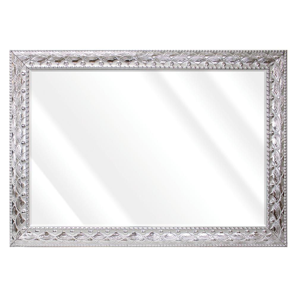 Silver Mirrors Home Decor The, 60 X 40 Wood Frame Mirror