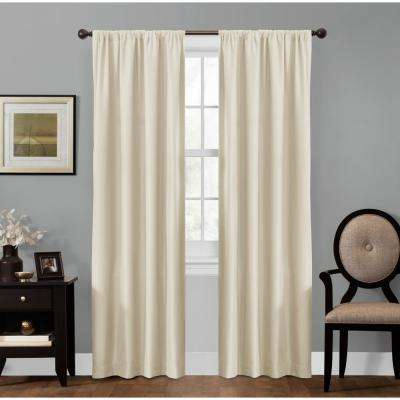 Julius 50 in. x 84 in. 100% Blackout Smart Curtain Window Panel