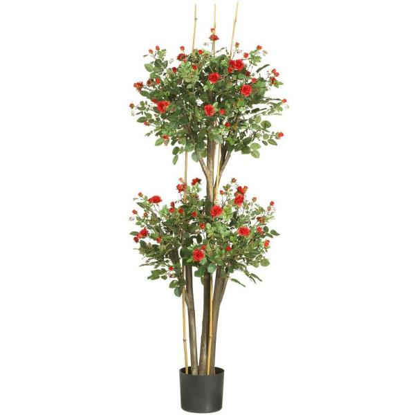 Nearly Natural 5 Ft Mini Rose Silk Tree 5238 The Home Depot