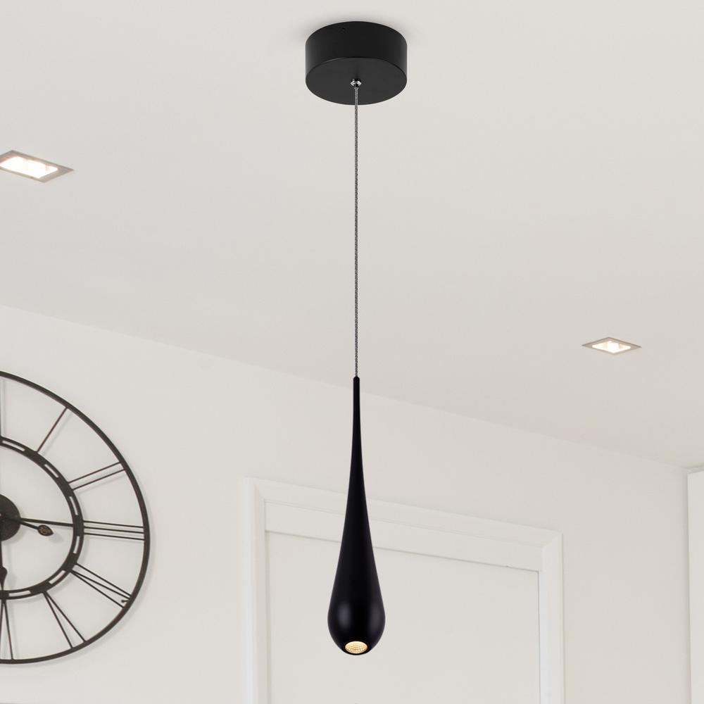 Polaris VMP24610BL 7-Watt Black Integrated LED Pendant