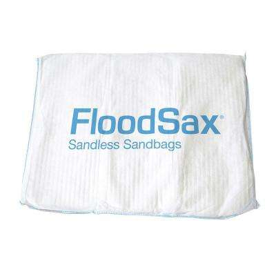 1 lb. 20 in. x 19 in. Instant Sandless Sandbags/ Water Absorbent Pads White 5-Pack