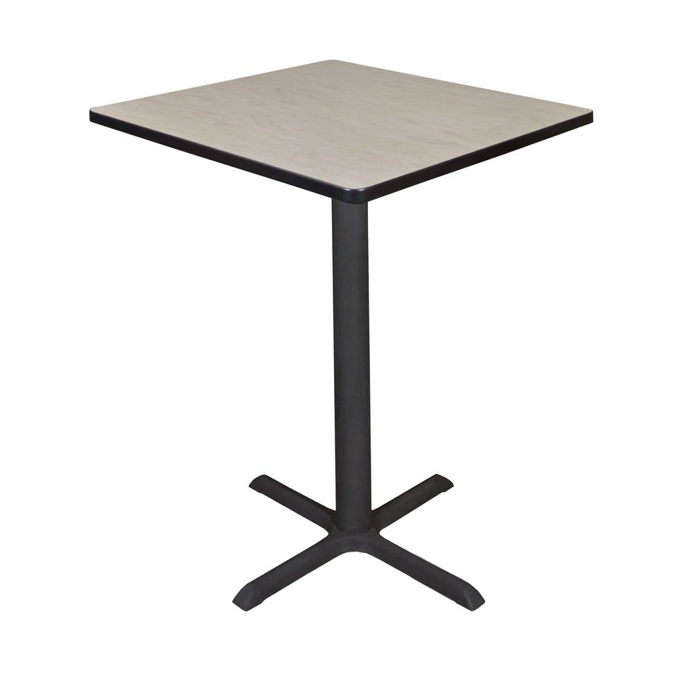 Regency Cain Maple (Brown) 30 in. Square Cafe Table