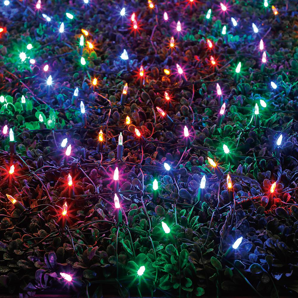 Home Accents Holiday 64 In X 175 400 Light Led Multi Color Christmas Tree Wrap With Changing Lights