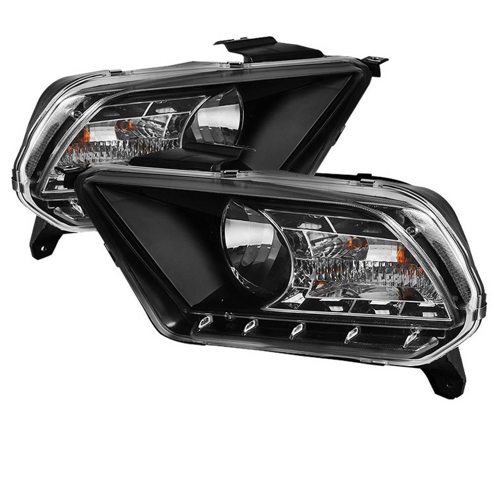 Spyder Auto Ford Mustang 10-13 ( Non HID ) DRL LED Crystal Headlights -  Black