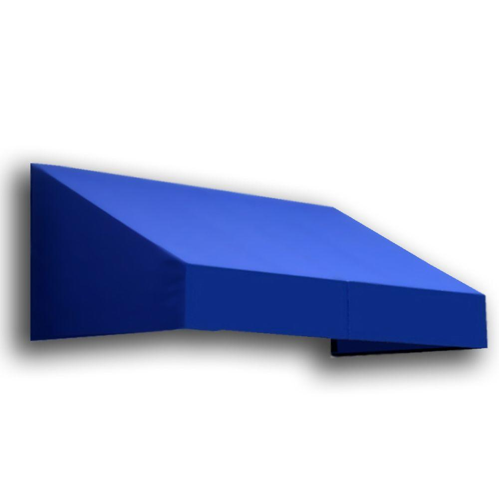 AWNTECH 12 ft. New Yorker Window/Entry Awning (18 in. H x 36 in. D) in Bright Blue