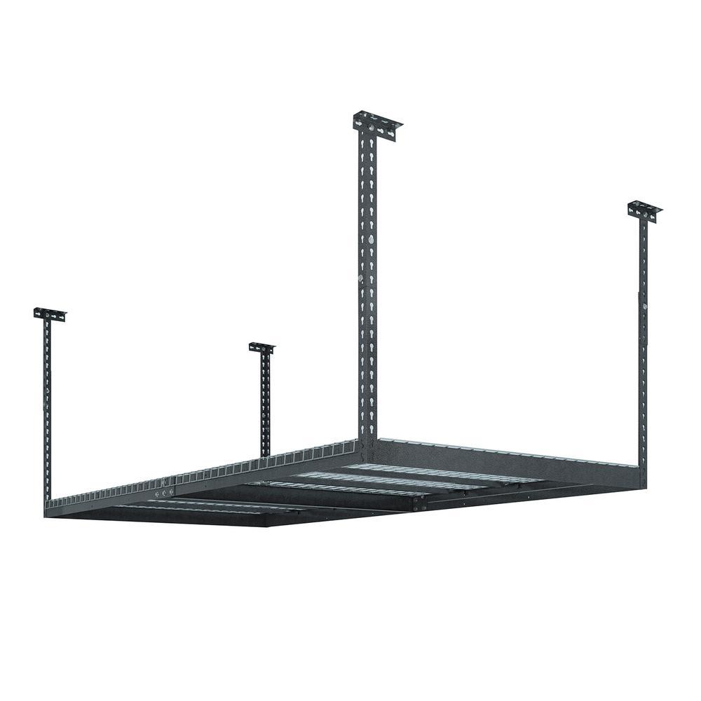 VersaRac 48 in. W x 42 in. H x 96 in. D Adjustable Ceiling Mounted Storage Rack in Gray