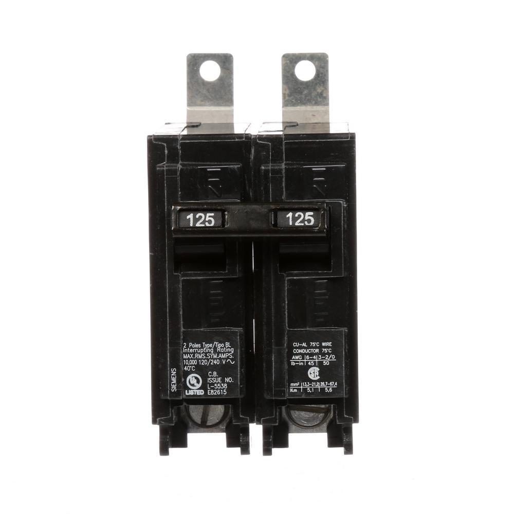 siemens 125 amp 2 pole type bl 10 ka circuit breaker sub panel vs main panel siemens p4080b1200acu 200 amp 40 space