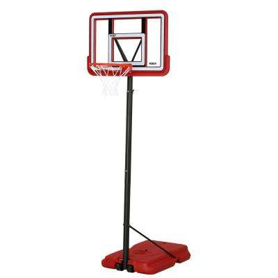 44 in. Portable Pro Court Red Basketball System