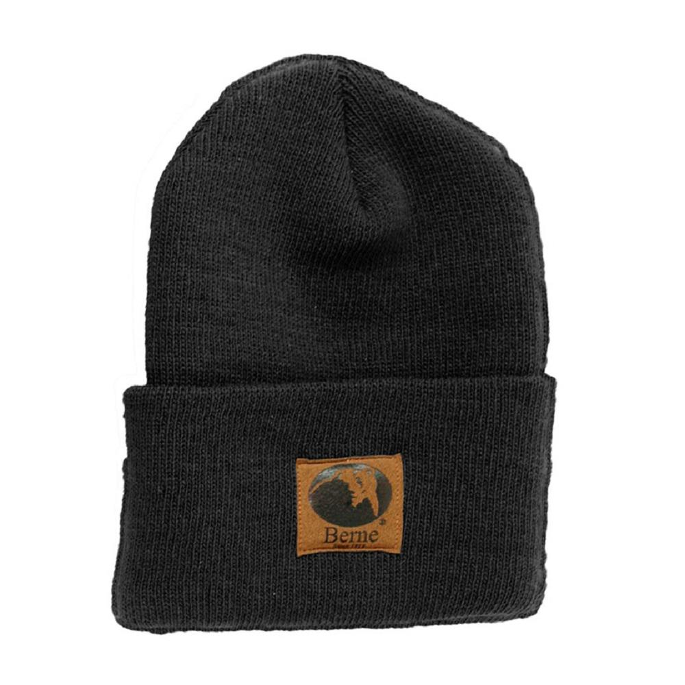 77421f92f8 Berne Men's Black Standard Knit Cap-H150BKR400 - The Home Depot