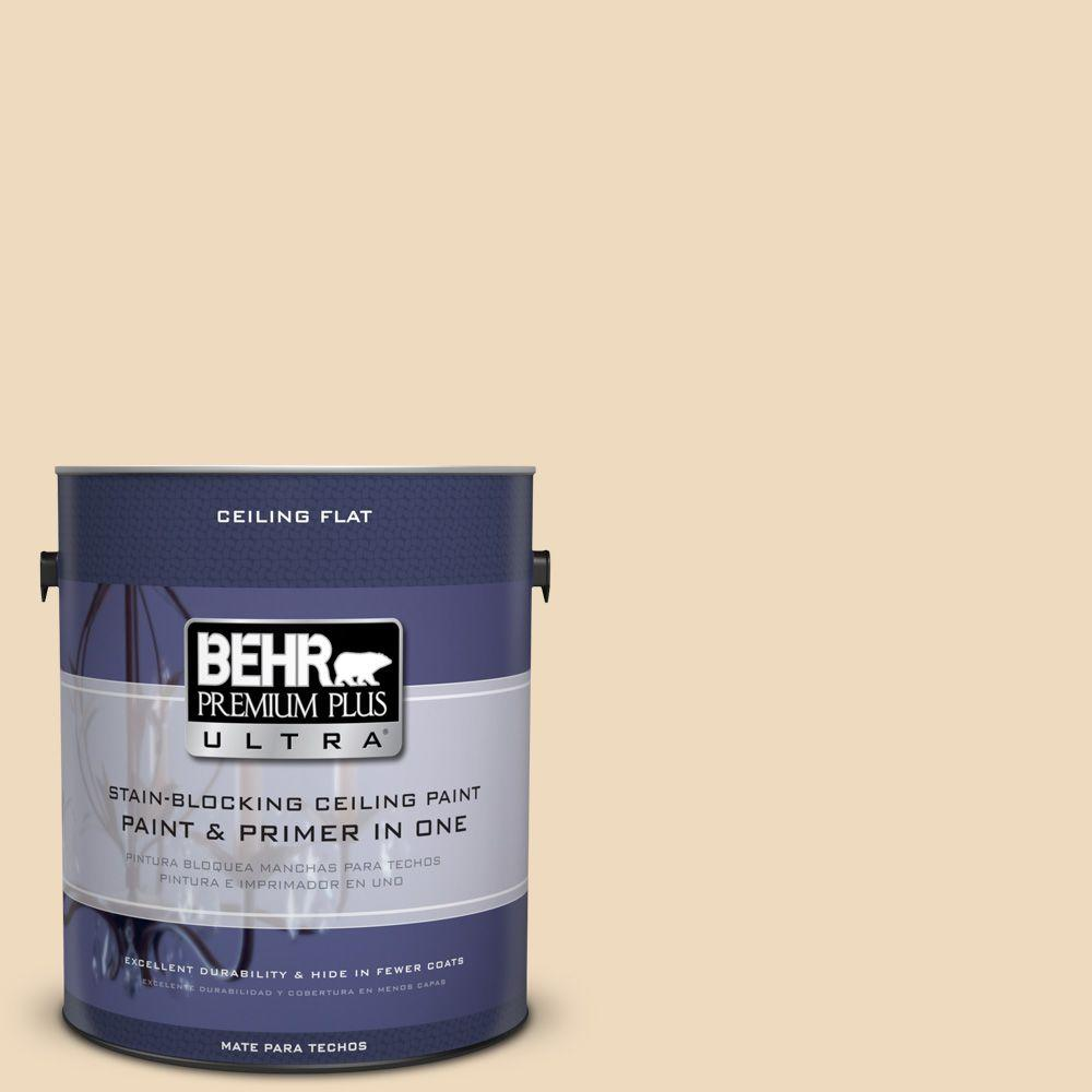 BEHR Premium Plus Ultra 1-Gal. No. UL150-7 Ceiling Tinted to Light Incense Interior Paint, Light Incense #ul150-7