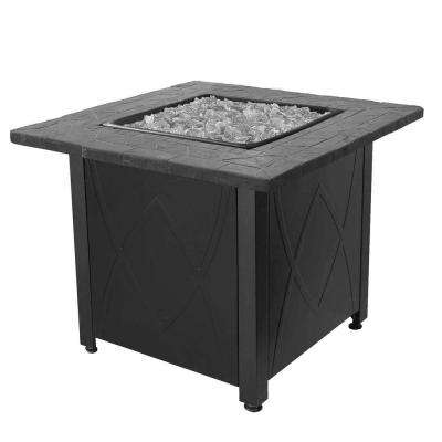 Outdoor 30,000 BTU Propane Gas Fireplace Fire Pit Table