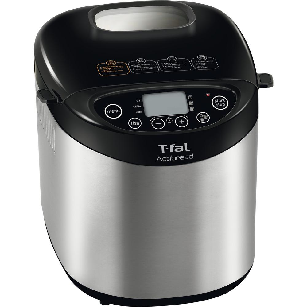 T-FAL ActiBread 2 lb. Gluten-Free Bread Maker, Stainless