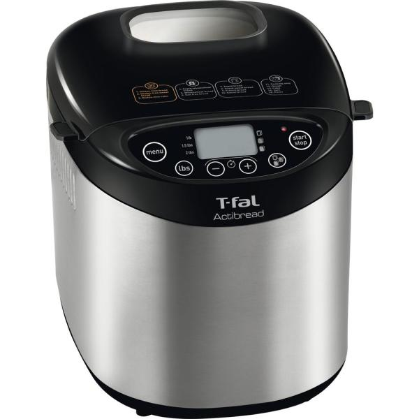 T-fal ActiBread 2 lb. Black Stainless Steel Bread Maker with Gluten-Free Setting