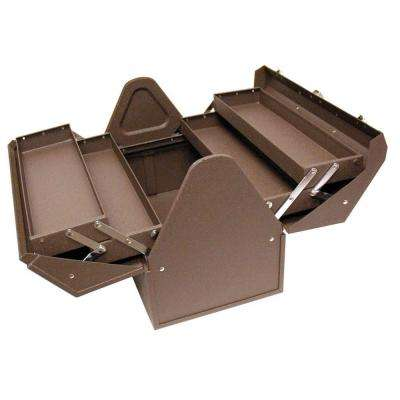 18 in. Cantilever Steel Hand Carry Tool Box in Brown Wrinkle