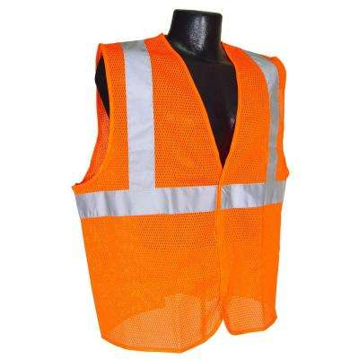 Class 2 Large Orange Mesh Safety Vest