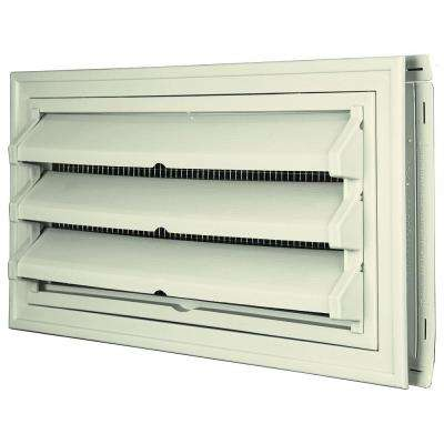 9-3/8 in. x 17-1/2 in. Foundation Vent Kit with Trim Ring and Optional Fixed Louvers (Galvanized Screen) in #082 Linen