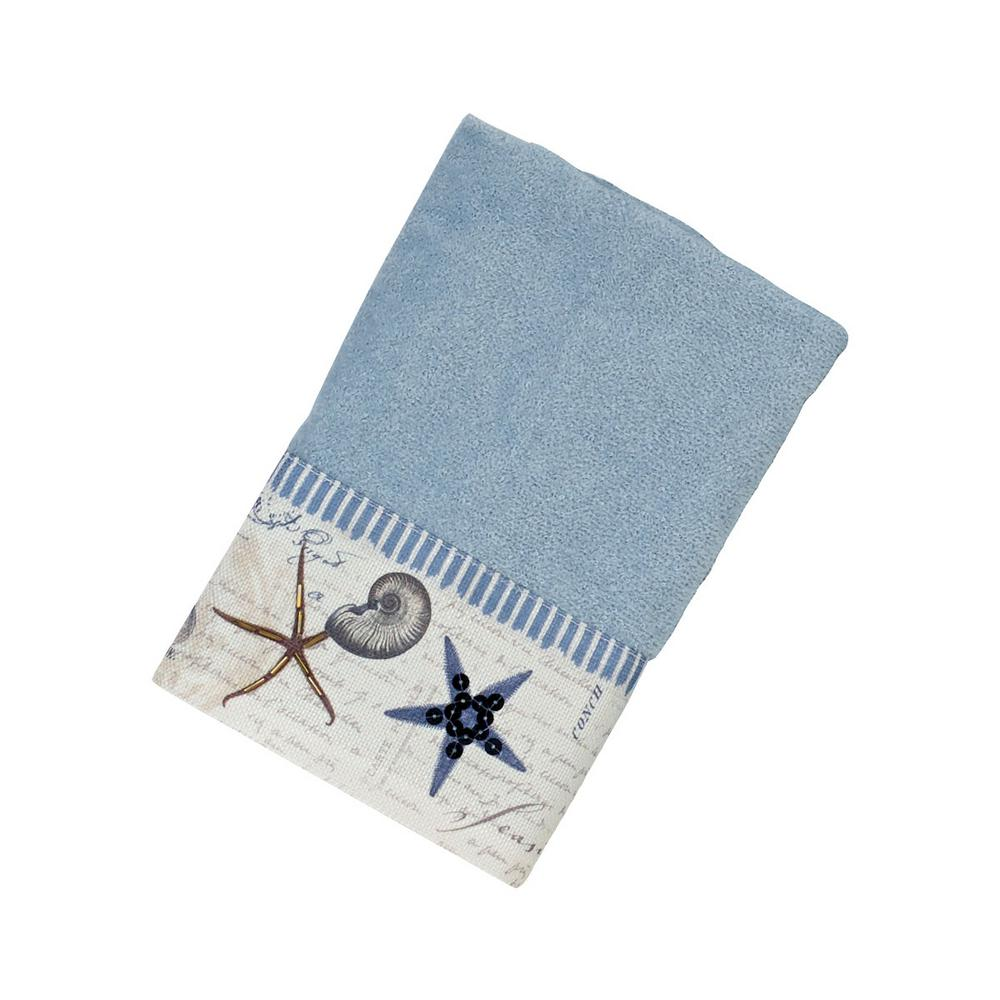 Antigua Hand Towel in Blue Fog