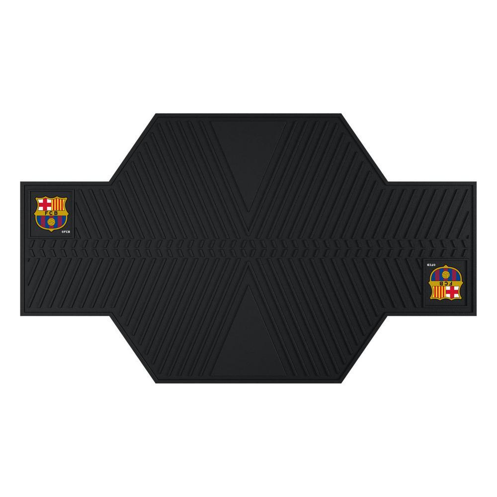 FC Barcelona Black 42 in. x 82.5 in. Motorcycle Mat