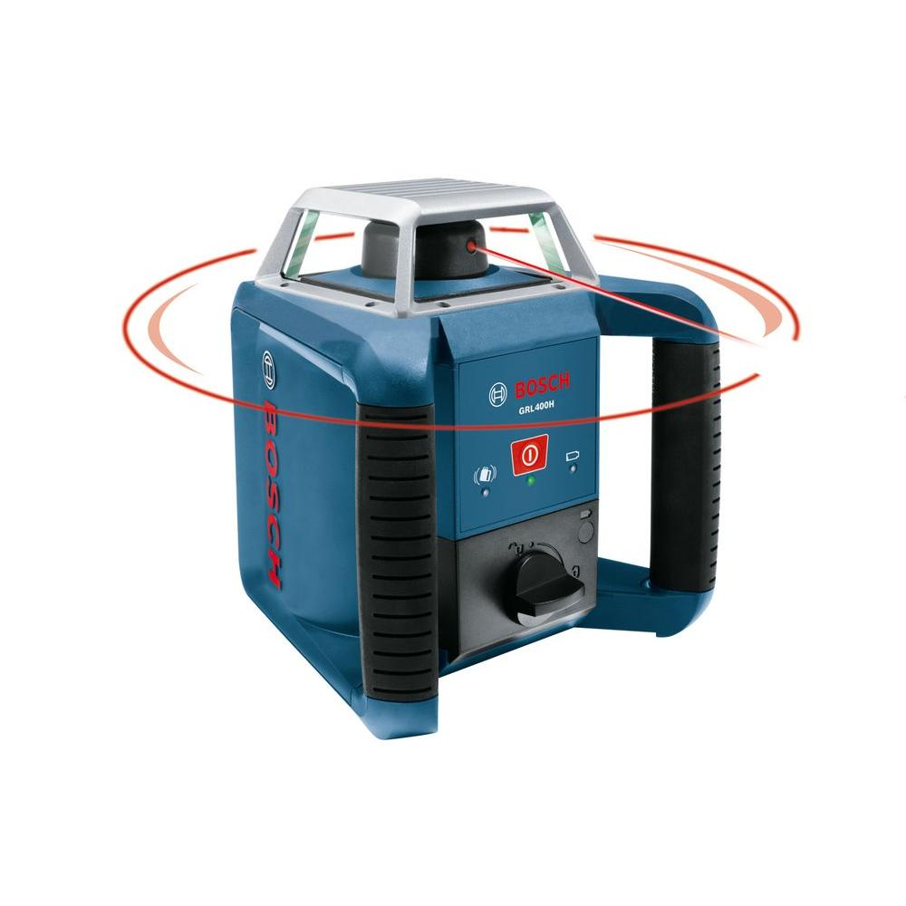 Bosch 1300 ft. Self-Leveling Rotary Laser Level with Laser Receiver and Carrying Case