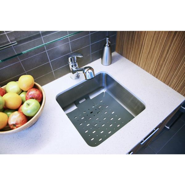 Core Home 16 In X 16 In Silicone In Sink Mat Protector With
