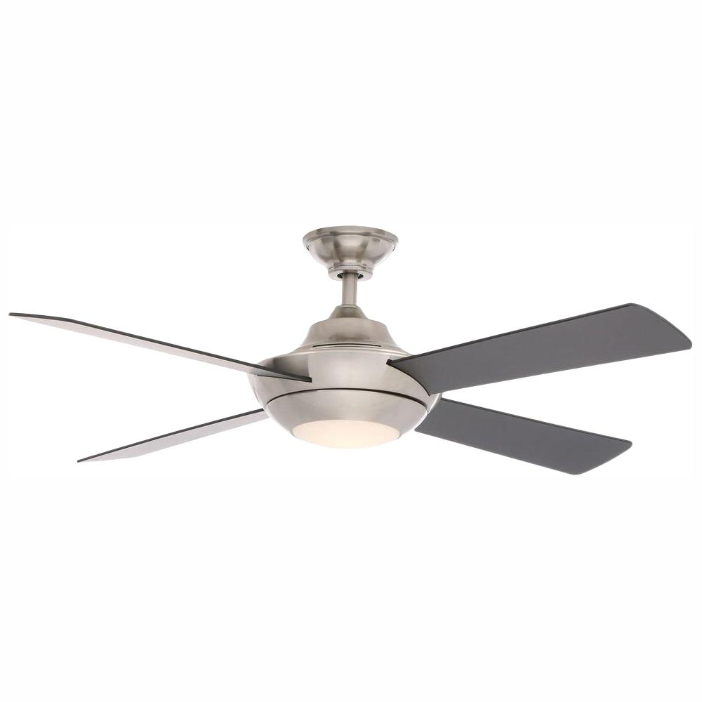 Home Decorators Collection Moonlight II 52 in. LED Indoor Brushed Nickel Ceiling Fan with Light Kit and Remote Control
