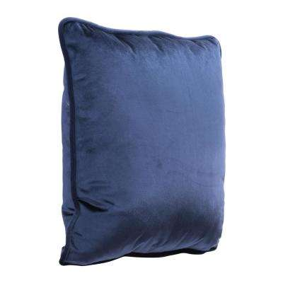 Velvet Blue Decorative Pillow