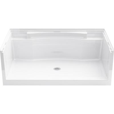 Accord 36 in. x 60 in. Single Threshold Shower Base in White