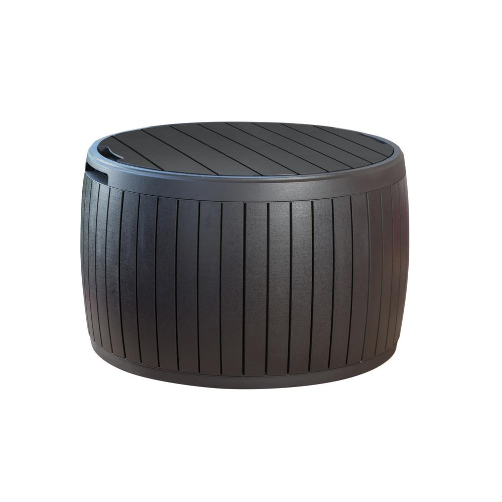 Keter Circa 37 Gal Resin Storage Circular Deck Box 230897 The