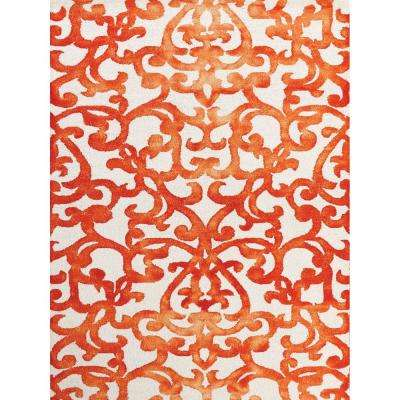 Shiloh Orange 2 ft. x 3 ft. Rectangle Area Rug