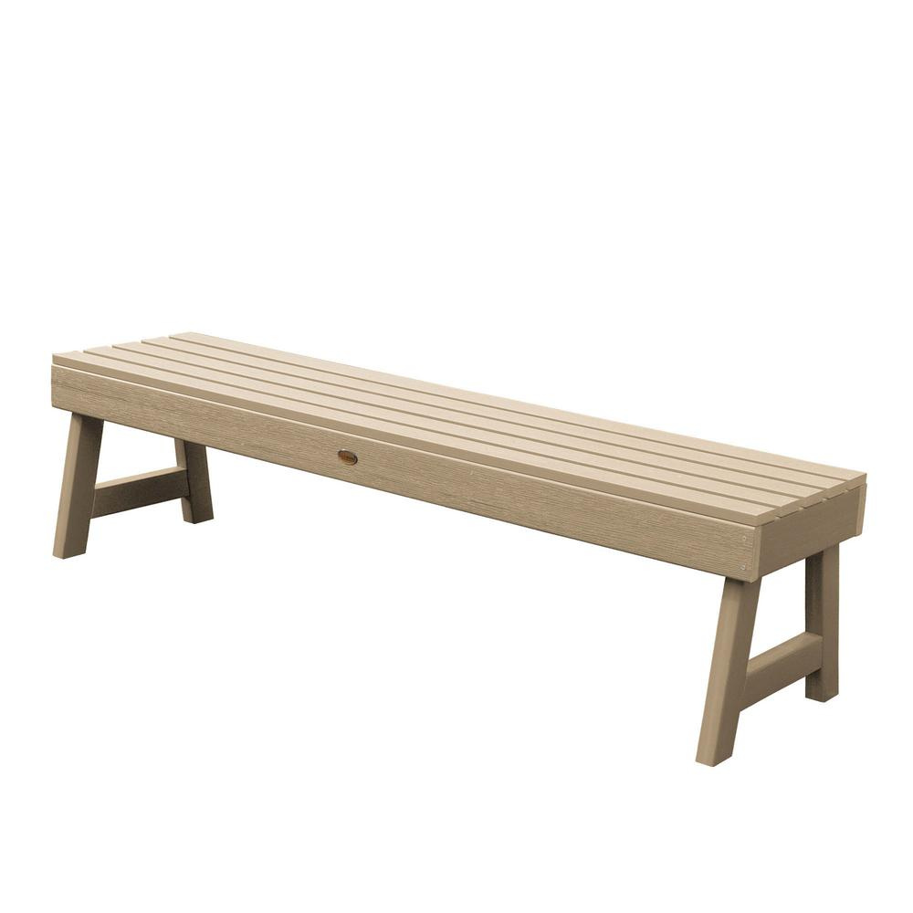 Highwood Weatherly 60 in. 2-Person Tuscan Taupe Recycled Plastic Outdoor Picnic Bench