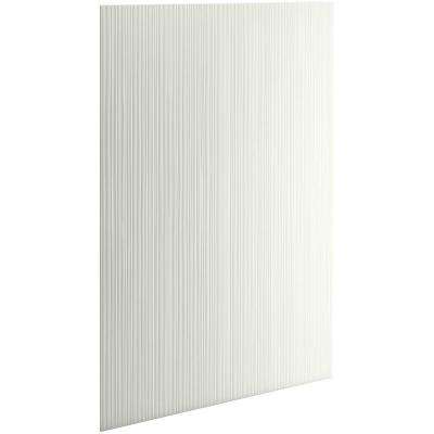Choreograph 0.3125 in. x 32 in. x 96 in. 1-Piece Shower Wall Panel in Dune with Cord Texture for 96 in. Showers
