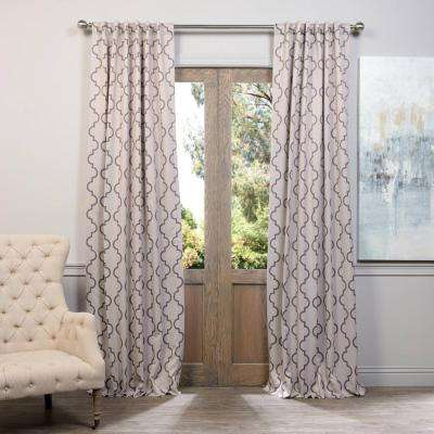 Semi-Opaque Seville Tan Blackout Curtain - 50 in. W x 96 in. L (Pair)