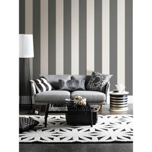 Charcoal Peel And Stick Stripe Wall Decal