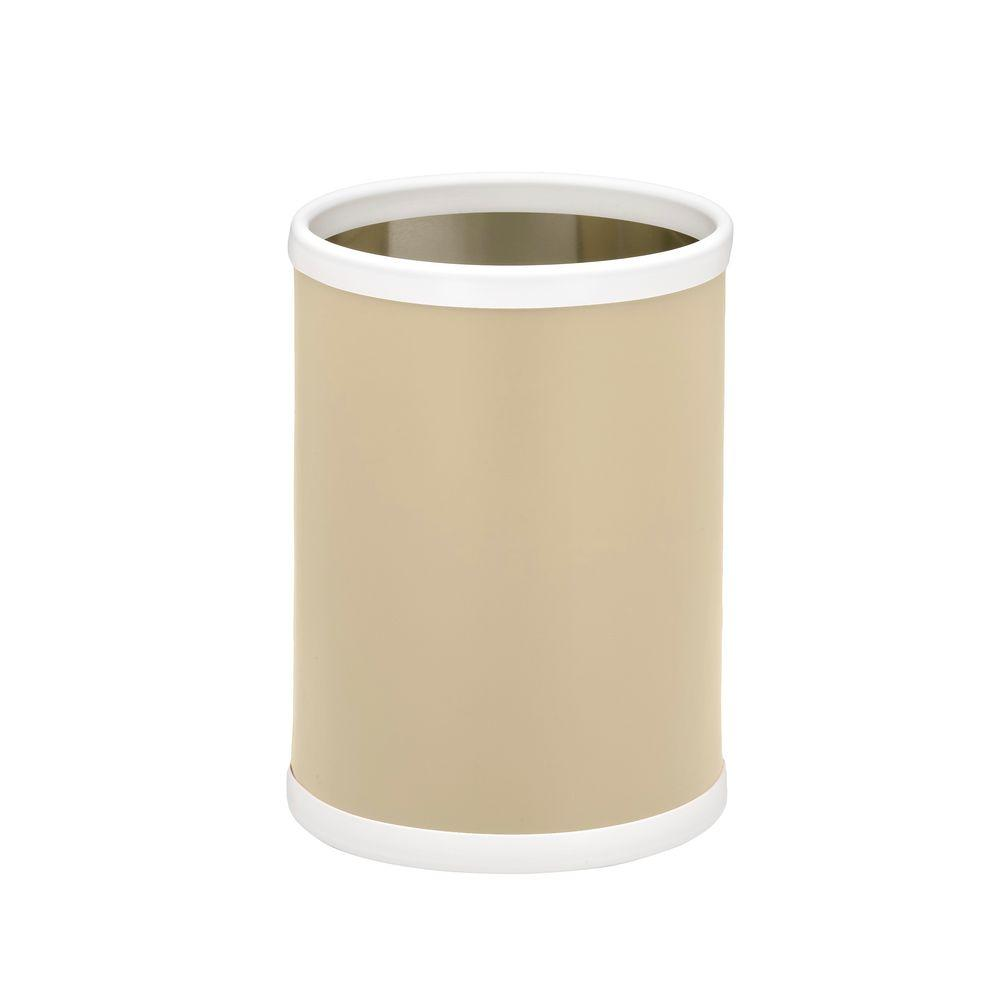 Fun Colors 8 Qt. Ivory Round Waste Basket