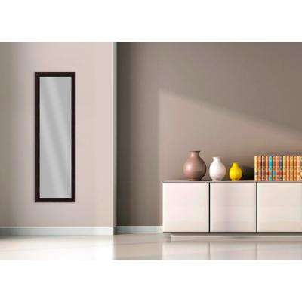 51.875 in. x 15.875 in. Dark Bronze Framed Mirror