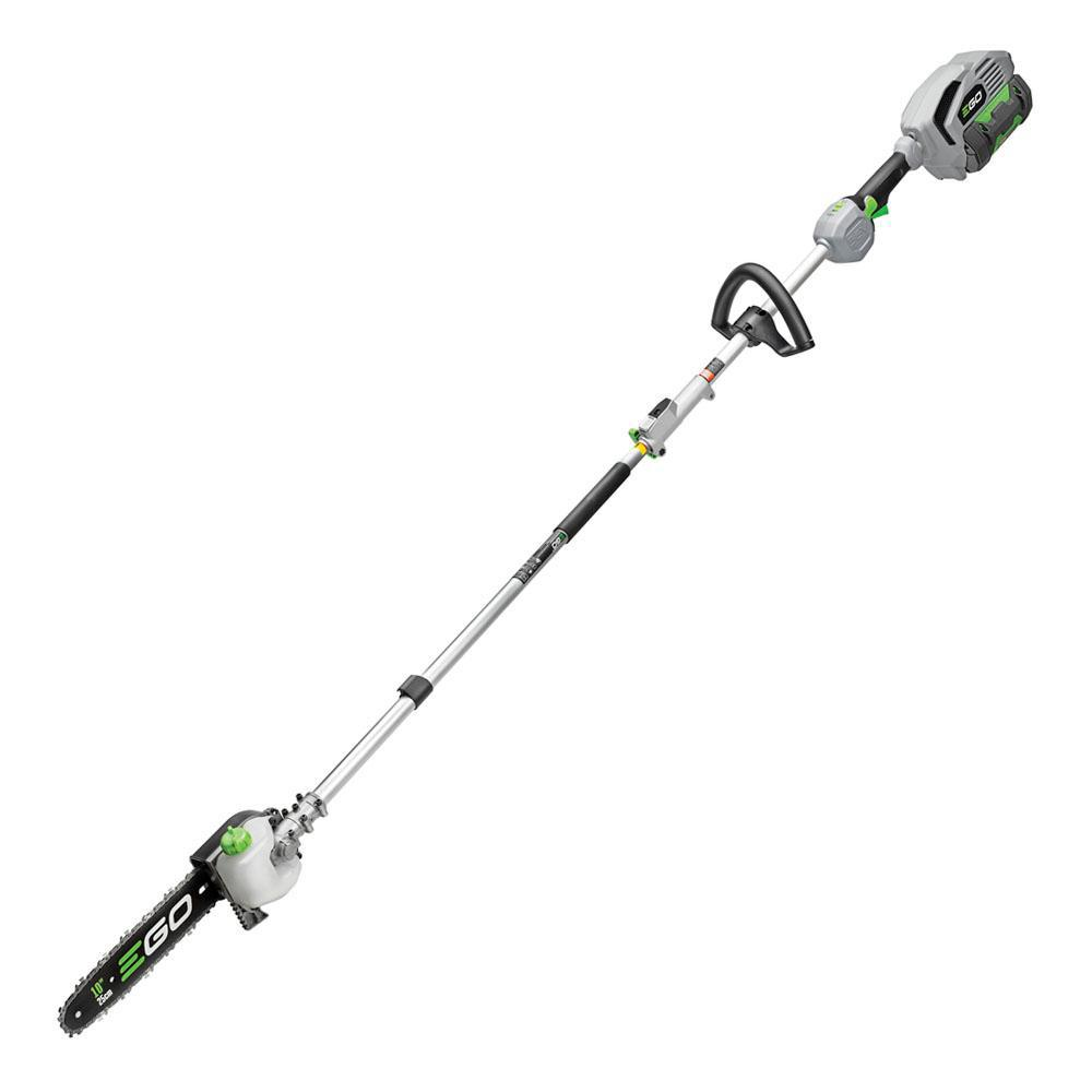 EGO POWER+ Multi-Head System 10 in. 56-Volt Lithium-Ion Cordless Electric Pole Saw, 2.5 Ah Battery and Charger Included