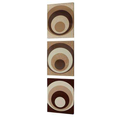 "Catherine 20 in. x 16 in. ""Circa Design"" on Faux Suede Wall Art"