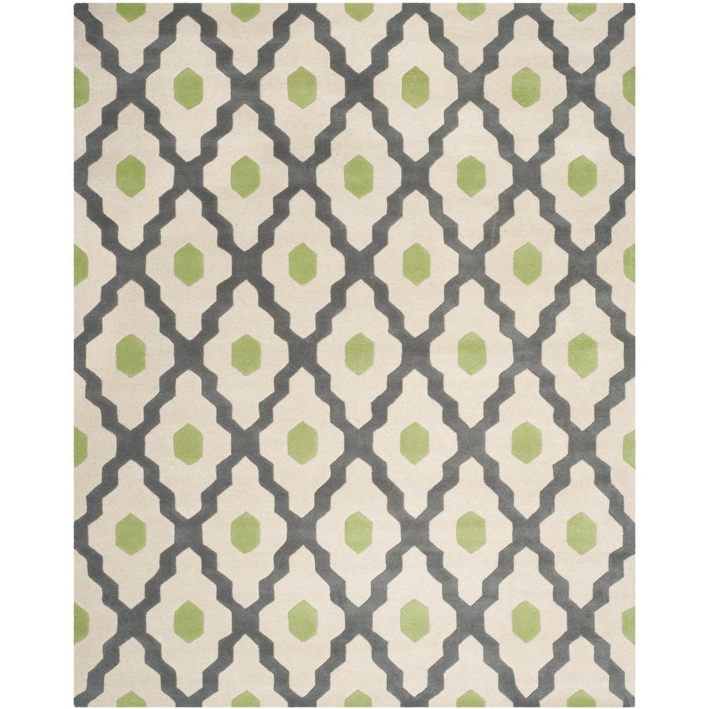 Chatham Dark Gray/Ivory 8 ft. x 10 ft. Area Rug