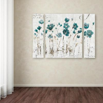 """30 in. x 41 in. """"Abstract Balance VI Blue"""" by Lisa Audit Printed Canvas Wall Art"""